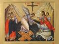Слизането на Христос в ада и извеждането на старозаветните праведници оттам. Съвременна светогорска икона. Манастир Ватопеди